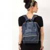 Anello กระเป๋าเป้ สะพายหลัง รุ่น Pu Rucksack Mini แท้100% สีกรม