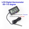 LCD Digital Thermometer -50~110 degree ( 1m 10 sec)