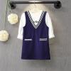 ชุดเอี๊ยม 2 ชิ้น เสื้อยืดสีขาวแขนยาว+เอี๊ยม เซ็ทนี้ใส่แล้ว Match กันมากดูน่ารัก สวยเก๋ดูดีมีสไตล์มากค่ะ