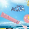 กันเเดด sasimi AQUA base hydra pink perfect facial mousse spf 50 pa+++