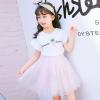 ชุดเซ็ทเด็กโต เสื้อสีขาว+กระโปรงสีชมพู น่ารักสดใส แบบเข้าชุด ใส่แล้วน่ารักมากค่ะ