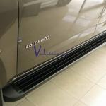 บันไดข้างอลูมิเนียมดำอย่างดี COLORADO X-CAB ขายึดหนา 3 จุดต่อข้าง แข็งแรง!!