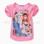 เสื้อยืดสีชมพูลายเอลซ่าและแอนนา Millou งานสวยผ้าดี ใส่สบายน่ารักมากค่ะ