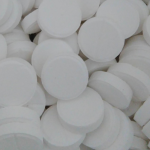 T.C.C.A คลอรีน 90 % (Trichloroisocyanuric Acid) แบบแท็บเล็ต ขนาด 1ก้อน 15 กรัม