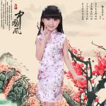 ชุดกี่เพ้าสีชมพู ลายดอกไม้ ใส่วันตรุษจีนน่ารักมากๆค่ะ
