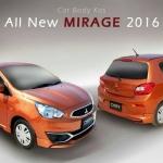 ชุดแต่งรอบคัน MITSUBISHI NEW MIRAGE 2016