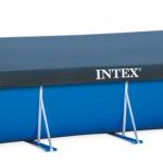INTEX ผ้าคลุมสระสี่เหลี่ยมเมทัลเฟรม 4.5 x2.2 ม