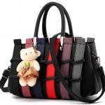 กระเป๋าแฟชั่นนำเข้า สไตล์เกาหลี สีดำ