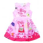 เดรสสาวน้อย Peppa Pig เจ้าหญิงหมูน่ารัก (สีชมพู) ซิปหลังใส่แล้วน่ารักมากค่ะ