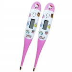 SOS Plus Clinical Digital Thermometer Hello Kitty เอสโอเอส พลัส เทอร์โมมิเตอร์ รุ่นHKT02 (สีชมพู)[2อัน]
