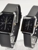 นาฬิกาคู่รักหน้าปัดดำ Analog (คลิ๊กเลือกซื้อคู่/ซื้อเดี่ยว)