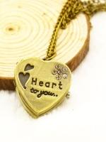 สร้อยคอนาฬิกาสีทองรมดำ Heart to you