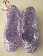 รองเท้ารังนกสีม่วงมีกลิตเตอร์วิ๊งๆ ใส่สวย สบาย เบา ไม่กัดเท้าแน่นอนค่ะ