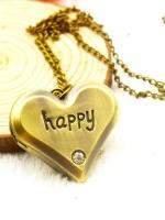 สร้อยคอนาฬิกาสีทองรมดำ Happy in Love