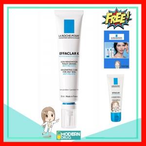 EFFACLAR K [+] 30 ml. ครีมรักษาสิวอุดตัน กระชับรูขุมขน รับฟรี!! Effaclar เจลล้างหน้าสูตรสิว 15 ml. + Tester