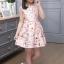 เดรสกระโปรงสีชมพู ลายน่ารักสดใส กระโปรงบานระบายกำลังดี ซิปด้านหลัง งานดีสวยมากค่ะ thumbnail 4