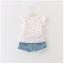 ชุดเซ็ทเสื้อสีขาว+กางเกงยีนส์ผ้านิ่มเอวยางยืด แต่พู่ๆที่ขอบของกางเกง น่ารักใส่สบายค่ะ thumbnail 2