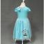 ชุดกระโปรงแขนตุ๊กตาสีฟ้า ลายเจ้าหญิง Frozen Elsa&Anna งานสวยใส่แล้วน่ารักมากค่ะ thumbnail 3