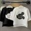 เสื้อเด็กหญิงสีดำ คอกลม สกรีน lucky mouse ชายเสื้อหน้าสั้นหลังยาว งานสวยใส่สบายน่ารักมากค่ะ thumbnail 5