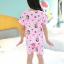 ชุดนอนเด็กโตสีชมพู ลายเจ้าหญิง ชุดแขนสั้นขาสั้น ผ้าดีใส่สบายน่ารักมากๆค่ะ thumbnail 3