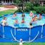 INTEX สระเมทัลเฟรม 15 ฟุต(457X122 ซม.) เครื่องกรองระบบไส้กรอง Complete set thumbnail 3