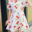 ชุดเดรสสาวน้อยสีขาว ลายลูกเชอร์รี่สีแดง ซิบด้านหลัง น่ารักสดใสมากค่ะ thumbnail 5
