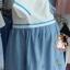 ชุดคลุมท้องสไตล์ญี่ปุ่นเสื้อสีขาวกระโปรงสีฟ้าเป็นชุดต่อกันค่ะ น่ารักมากค่ะชุดนี้ thumbnail 3