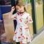 ชุดเดรสสาวน้อยสีขาว ลายลูกเชอร์รี่สีแดง ซิบด้านหลัง น่ารักสดใสมากค่ะ thumbnail 2