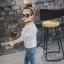 เสื้อเด็กหญิงแขนยาวสีขาว ดีเทลเก๋ๆ เรียบๆแต่ดูดี ใส่กับกางเกงหรือกระโปรง น่ารักมากๆค่ะ thumbnail 3
