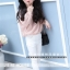 กางเกงเด็กผู้หญิงสีขาว ขายาวเอวยางยืด มีกระเป๋าด้านข้าง ใส่กับเสื้อแบบไหนก็น่ารักค่ะ thumbnail 1