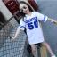 มินิเดรสเด็กโตสีขาว สกรีน GENTLE 50 จะใส่ในวันธรรมดาสบายๆ หรือใส่ไปเที่ยวก็น่ารักมากค่ะ thumbnail 1
