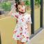 ชุดเดรสสาวน้อยสีขาว ลายลูกเชอร์รี่สีแดง ซิบด้านหลัง น่ารักสดใสมากค่ะ thumbnail 1