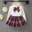 ชุดเซ็ทน่ารัก เสื้อขาว+กระโปรงสีแดงลายสก็อตจีบรอบ สไตล์เด็กนานาชาติ ใส่ไปเที่ยวก็สวยเริ่ดค่ะ thumbnail 1