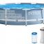 INTEX สระปริซึ่มเฟรมกลม 12 ฟุต(366X76 ซม.) เครื่องกรองระบบไส้กรอง thumbnail 1