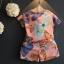 ชุดเซ็ท 2 ชิ้น เสื้อแขนสั้น+กางเกงขาสั้นลายผีเสื้อ สีสันสดใส ใส่แล้วน่ารักมากๆเลยค่ะ thumbnail 2