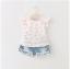 ชุดเซ็ทเสื้อสีขาว+กางเกงยีนส์ผ้านิ่มเอวยางยืด แต่พู่ๆที่ขอบของกางเกง น่ารักใส่สบายค่ะ thumbnail 1