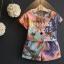 ชุดเซ็ท 2 ชิ้น เสื้อแขนสั้น+กางเกงขาสั้นลายผีเสื้อ สีสันสดใส ใส่แล้วน่ารักมากๆเลยค่ะ thumbnail 1