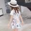 ชุดเดรสสาวน้อยแขนสั้น ลายดอกไม้และผีเสื้อ ชุดนี้เก๋สุดๆ ใส่แล้วน่ารักมากค่ะ thumbnail 3