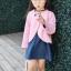 เซ็ทสาวน้อย 2 ชิ้น เสื้อคลุมคาร์ดิแกนสีชมพู + เดรสสีน้ำเงิน แบบใหม่งานสวยเก๋สุดๆ ใส่แล้วเริ่ด ดูดีมากค่ะ thumbnail 5