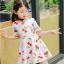 ชุดเดรสสาวน้อยสีขาว ลายลูกเชอร์รี่สีแดง ซิบด้านหลัง น่ารักสดใสมากค่ะ thumbnail 4