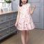 เดรสกระโปรงสีชมพู ลายน่ารักสดใส กระโปรงบานระบายกำลังดี ซิปด้านหลัง งานดีสวยมากค่ะ thumbnail 3
