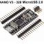 Nano V3 ATmega328 MicroUSB,CH340, 3.3V 500mA. Compatible for Arduino Nano V3.0 thumbnail 1