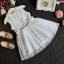 ชุดเดรสกระโปรงผ้าลูกไม้สีขาว ต่อด้วยกระโปรงฟูๆ ชุดนี้ใส่แล้วสวยดูสวยหวานน่ารัก ใส่ไปเที่ยวหรืออกงานก็น่ารักค่ะ thumbnail 1