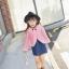 เซ็ทสาวน้อย 2 ชิ้น เสื้อคลุมคาร์ดิแกนสีชมพู + เดรสสีน้ำเงิน แบบใหม่งานสวยเก๋สุดๆ ใส่แล้วเริ่ด ดูดีมากค่ะ thumbnail 3