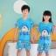 ชุดนอนเด็กโตสีฟ้า ลายโดเรมอน ชุดแขนสั้นขาสั้น ผ้าดีใส่สบายน่ารักมากๆค่ะ thumbnail 3