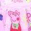 เดรสสาวน้อย Peppa Pig เจ้าหญิงหมูน่ารัก (สีชมพู) ซิปหลังใส่แล้วน่ารักมากค่ะ thumbnail 3