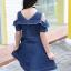 เดรสเด็กโตผ้ายีนส์เปิดไหล่ มีซิปด้านหน้า งานสวยสุดๆสามารถใส่ได้บ่อย สวยเท่ห์ดูดีค่ะ thumbnail 6