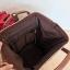 Anello กระเป๋าเป้ สะพายหลัง รุ่น pu rucksack mini แท้100% สีน้ำตาล thumbnail 7