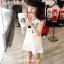 มินิเดรสเด็กหญิงสีขาว แขนกุด สกรีน BASEBALL 99 น่ารักมากค่ะ (ไซส์เล็กดูขนาดก่อนสั่งนะค่ะ) thumbnail 3