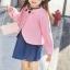 เซ็ทสาวน้อย 2 ชิ้น เสื้อคลุมคาร์ดิแกนสีชมพู + เดรสสีน้ำเงิน แบบใหม่งานสวยเก๋สุดๆ ใส่แล้วเริ่ด ดูดีมากค่ะ thumbnail 4